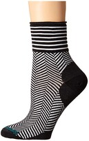 Smartwool Herringbone Mini Boot Sock (Black) Women's Crew Cut Socks Shoes