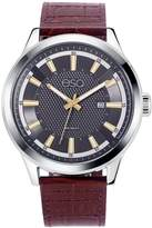 ESQ Swiss Men's Stainless Steel Watch, Date Window and Gray Dial