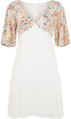 Traffic People Farewell Blues Mini Dress In White