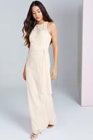 Thumbnail for your product : Little Mistress Beige Sequin Maxi Dress