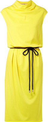 Marc Jacobs Belted Draped Jersey Dress