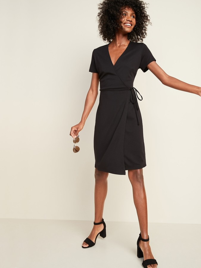 Old Navy Ponte-Knit Wrap-Front Sheath Dress for Women