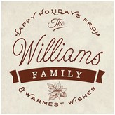 Personalized Warmest Wishes Canvas