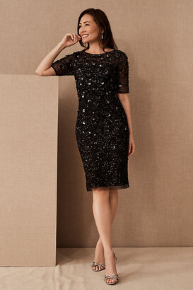 Adrianna Papell Petaluma Sequin Dress By in Black Size 8