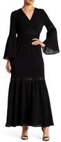 Romeo & Juliet Couture V-Neck Lace Trim Woven Maxi Dress