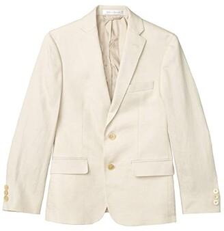 LAUREN Ralph Lauren Kids Linen Suit Jacket (Big Kids) (Beige) Boy's Clothing