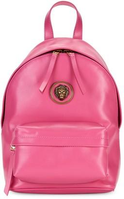 Versace Embellished Logo Leather Backpack