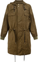 Balmain flap pocket parka coat - men - Cotton - S