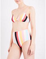 Solid & Striped The Brigitte striped triangle bikini top
