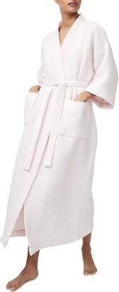 The White Company Long Lightweight Waffle Robe