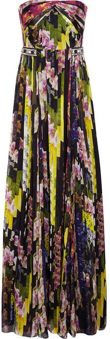 Matthew Williamson Floral-print silk-chiffon gown