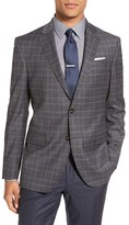 Ted Baker Men's 'Jay' Trim Fit Plaid Stretch Wool Sport Coat