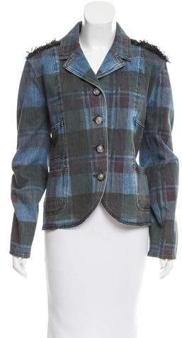 Chanel Paris-Edinburgh Plaid Denim Jacket w/ Tags