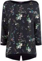 Oasis Floral Butterfly Woven Front