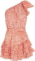 Poupette St Barth Kaia Ruffled One-Shoulder Dress
