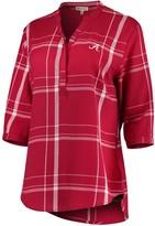Unbranded Women's Crimson Alabama Crimson Tide Missy Cotton Plaid Tunic Shirt