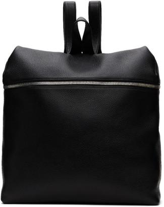 Kara Black Leather XL Backpack