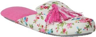 Dearfoams Women's Closed Toe Scuff Slippers with Tassel