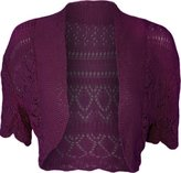 Noroze Womens Crochet Knitted Short Sleeve Ladies Bolero Shrug