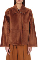 Max Mara short lamb shearling coat
