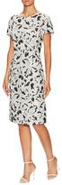Carolina Herrera Jacquard Crewneck Sheath Dress