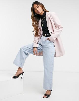 Vero Moda tailored coat in pink