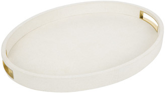 AERIN Shagreen Cocktail Tray - Cream