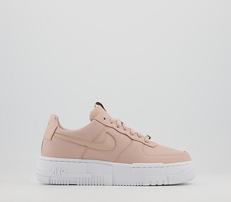 Nike Force 1 Pixel Trainers Particle Beige Particle Beige Black