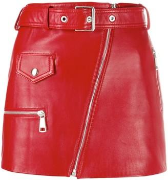 Manokhi Biker mini skirt