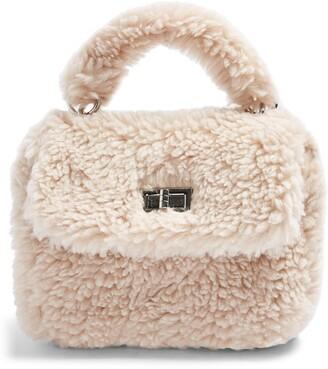 Topshop Faux Shearling Shoulder Bag