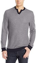 Vince Camuto Men's Notch Neck Long Sleeve Shirt