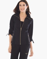 Chico's Neema Solid Detail Jacket in Black