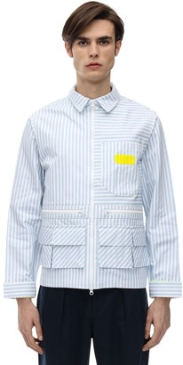 Piet Striped Cotton Worker Jacket