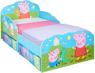 Peppa Pig Toddler Bed with Underbed Storage Drawers
