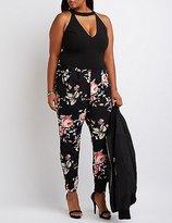 Charlotte Russe Plus Size Floral Combo Jumpsuit