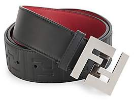 Fendi Men's Embossed FF Logo Belt