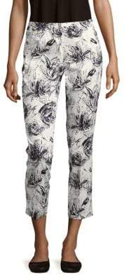 Lafayette 148 New York Printed Cotton-Blend Cropped Pants