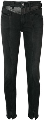 Givenchy Leather Panel Jeans