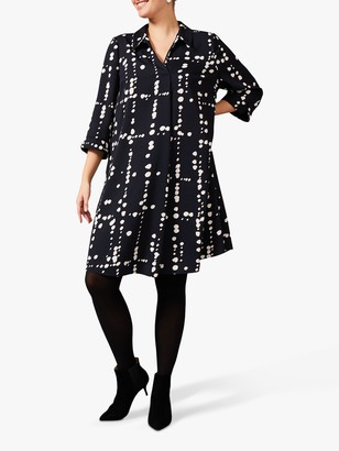 Studio 8 Bette Swing Spotted Mini Dress, Navy/Multi