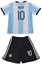 AFA FWC 2016 Argentina Home Messi 10 Futbol Football Soccer Kids Jersey & Short