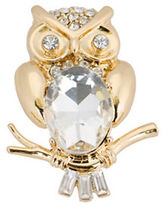 Jones New York Boxed Faceted Stone Owl Pin