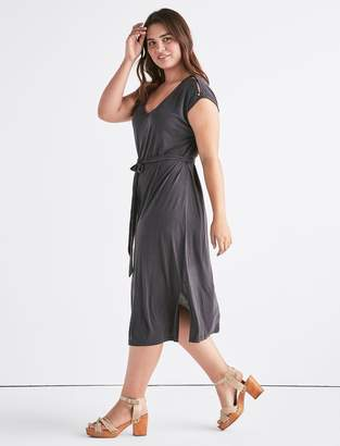 Lucky Brand Button Sleeve Sandwash Dress