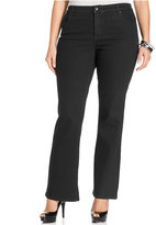Style&Co. Plus Size Tummy Control Bootcut Jeans, Black Wash