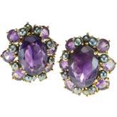 Amethyst & Pearl Earrings by Bounkit