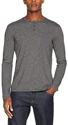 Kaporal Men's Porij T-Shirt-Long Sleeve, Gris (Graphite), Medium