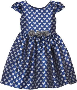 Frais Jacquard Heart Fit & Flare Dress