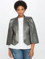 ELOQUII Plus Size Studio Brocade Capelet Jacket