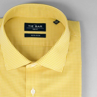 Tie Bar Petite Gingham Goldenrod Non-Iron Dress Shirt
