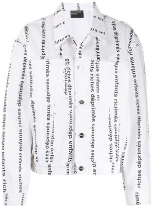 Enfants Riches Deprimes Logo Print Denim Jacket