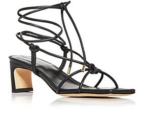 Anine Bing Women's Graham Ankle Tie Mid Heel Sandals